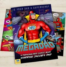 Personalised Mega Dad Comic Book Softback Daddy Father's Day Gift Birthday