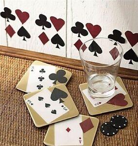 WALLIES POKER HOLDEM CARDS SUITS wall sticker 25 decals heart diamond club spade
