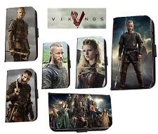 Vikings flip Inspired phone case Ragnar Lagertha Floki Iphone 8 X Samsung Huawei