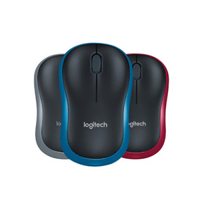 Logitech M185 Wireless Wifi Mouse Ergonomic  with 2.4G Receiver  With Mouse Pad