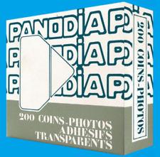 coins photos auto-adhésifs blancs transparents boite distributeur de 200 pièces