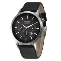 *North* Mens Luxury Waterproof Watch Genuine Leather Band High Quality RRP £349