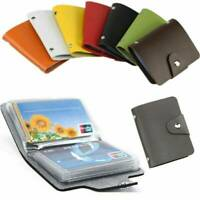 Hot Mens Slim PU Leather ID Credit Card Holder Pocket Case Purse 24Cards Wallet