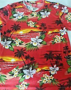 Mens Hawaiian T-shirt size L~ rashy style