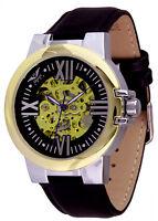 Minoir Uhren - Modell Ussel silber/gold Automatikuhr Skelettuhr