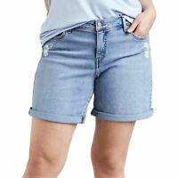 "Levi's Sz 30"" - 20W Womens Black Light Blue Mid Rise Denim Classic Casual Shorts"