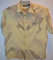 Puritan Hawaiian-Style Men's Short Sleeve Shirt Size XL   Palm Graphics