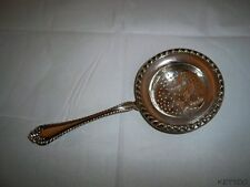 Antique STERLING SILVER Tea Strainer Bowl Infuser ALVIN MANUFACTURING CO SYMBOL