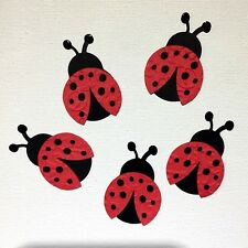 10-15 Lady Bug Die-Cuts Embellishments Paper Piecing Premade Scrapbooking Card