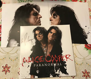 Alice Cooper Signed Vinyl Paranormal Lp Autographed Red Record