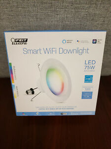 Feit Electric Smart Wifi Downlight LED 75W Replacement Works With Google & Apple
