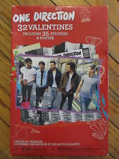 ONE DIRECTION VALENTINES DAY CARDS New In Box 32 Cards 35 Sticker Seals & Poster
