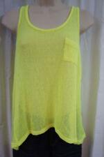 Camicia da donna senza maniche gialli