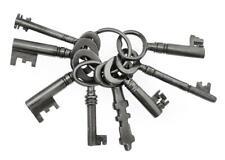 """ANTIQUE / VINTAGE KEYS - Ring of Old Keys 1½"""" to 2¼"""" - Job Lot - ref.k332"""