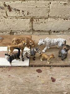"7 x ""SCHLEICH Animal"" - African, Koala, Cat, Pony"