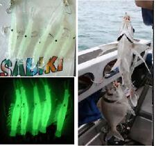 7 Pack Sabiki Shrimp Rigs Glow In Dark Baits Fishing Lures Catch Hook