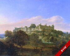 WINDSOR CASTLE ENGLAND LANDSCAPE BRITISH HISTORY PAINTING ART REAL CANVAS PRINT
