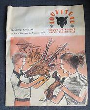 SCOUTISME LOUVETEAU SCOUT DE FRANCE revue numéro spécial vacances 1957