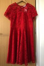 BNWT - Next Red Lace Party [Christmas Party] Formal Dress - Size 16 PETITE