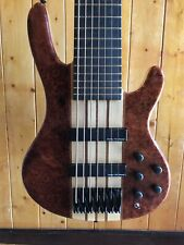 Wolf S9-7 7 String Bass Guitar Quilted Bubinga  (#3)