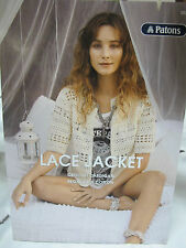Patons Crochet Leaflet No 0021 Lace Jacket Regal Cotton 4 Ply for Summer
