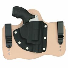 """FoxX Leather & Kydex IWB Hybrid Holster S&W K-Frame 4"""" .38 Special Natural Right"""