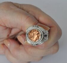 Konstantino Men's Ring Alexander Braided Coin 10  New Sterling Copper Aeolos