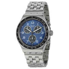 Swatch Boxengasse Chronograph Blue Dial Men's Watch YVS423G