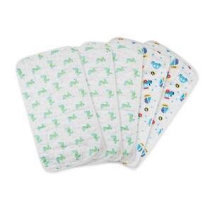 Muslin Burp Cloths Baby Burping Bibs 100% Organic Cotton 5-Pack Large 6 Layers