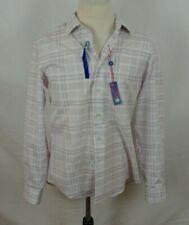 NWT Egara Slim Fit Non Iron Men's Button Down Dress Shirt Purple L