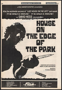 HOUSE ON THE EDGE OF THE PARK__Original 1979 Trade AD / poster__RUGGERO DEODATO