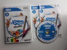 uDraw Studio - Nintendo  Wii Game CIB COMPLETE - FAST FREE SHIPPING !!