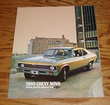 1969 Chevrolet Nova Sales Brochure 69 Chevy