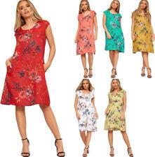 Linen Casual Women's Tunic/Smock Dress Dresses