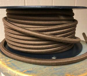 14 Calibre Paño Cubierto 3-Wire Cuerda, Marrón Color- Eléctrico Poder Cable Pie
