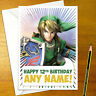 SUPER SMASH BROS LINK Personalised Birthday Card - breath zelda personalized
