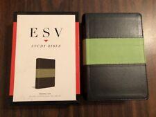 ESV Study Bible Personal Size - $64.99 Retail - Charcoal / Sage Trutone