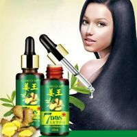2PCS 7 Days Hair Growth Serum Ginger Germinal Hairdressing Oil Loss Treatement