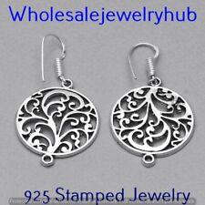 Plated Earring Jewelry E-5411 Plain Earring 925 Sterling Silver