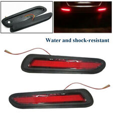 12V 2x Red Lens LED Car Rear Bumper Reflectors Taillight Brake Fog Warning Light