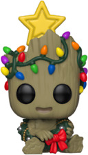 FUNKO POP GUARDIAN OF THE GALAXY BABY GROOT WITH CHRISTMAS LIGHTS HOLIDAY
