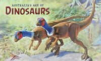 2013 AUST STAMP PACK 'AUSTRALIA'S AGE OF DINOSAURS' MINI SHEET & 6 STAMPS  MNH
