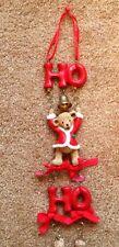 CHRISTMAS BEARS WALL TREE HANGING HO HO HO BELLS CUTE!!!!