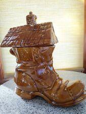 Vintage Large Shoe House Cookie Jar
