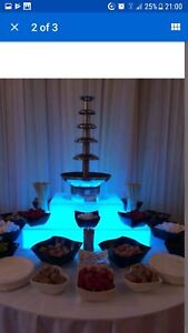 Large 6 Tiers Chocolate Fountain For Hire With illuminated Base With Dip Choices