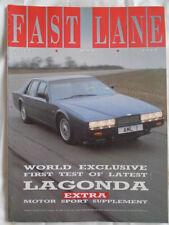 Fast Lane May 1988 Aston Martin Lagonda, Porsche 944 Turbo, Delta Integrale