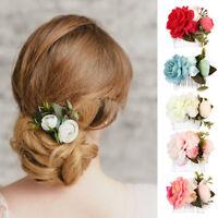 Eg _ Mariage Noces Rose Pince Cheveux Fleur Broche Peigne à Demoiselle D'Honneur
