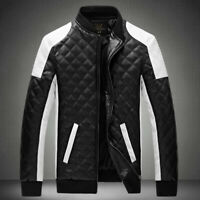 Men Slim Jacket Coat Baseball Coats Motorcycle Jacket Outwear
