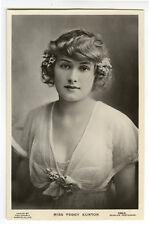 c 1910 British Glamour PRETTY YOUNG LADY Actress Peggy Kurton photo postcard