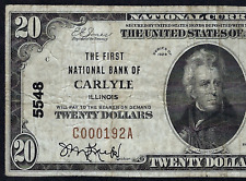 IL  1929 $20  ♚♚CARLYLE, ILLINOIS♚♚